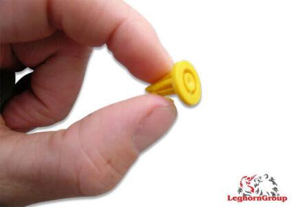 precinto plástico tipo ancla para cajas totebox 17x14mm