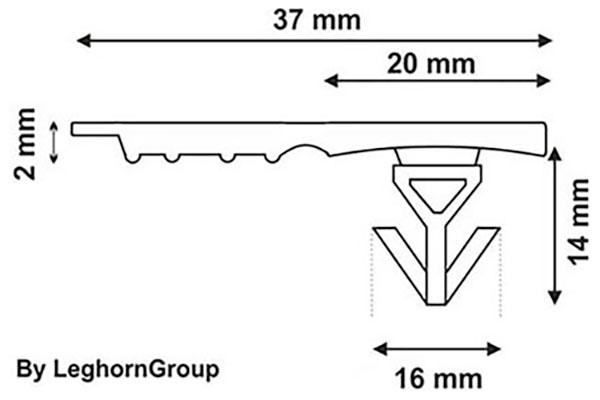 precinto plastico totebox seal 37x16 mm diseno tecnico