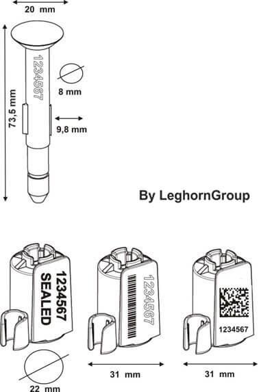 precinto tipo botella neptuneseal diseno tecnico