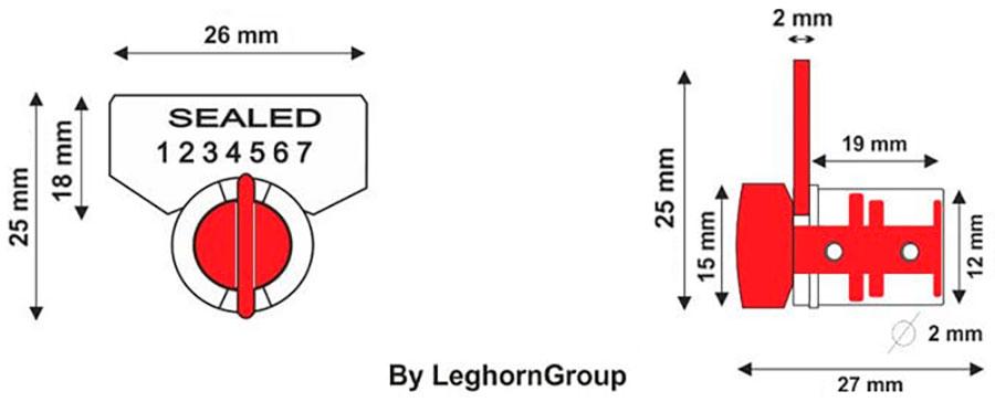 precinto cierre rotativo twist seal diseno tecnico