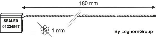 precintos con cable 1×180 mm diseno tecnico