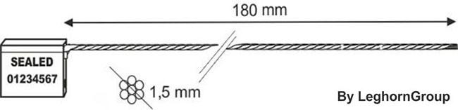 precintos con cable 1.5×180 mm diseno tecnico