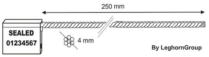 precintos con cable 4×250 mm diseno tecnico