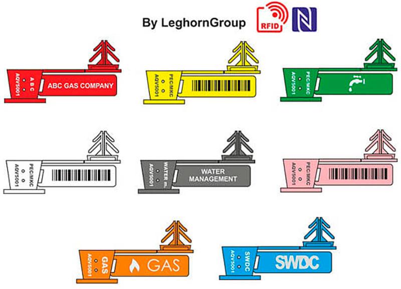 precintos para alambre rfid anchorflag colores personalizaciones