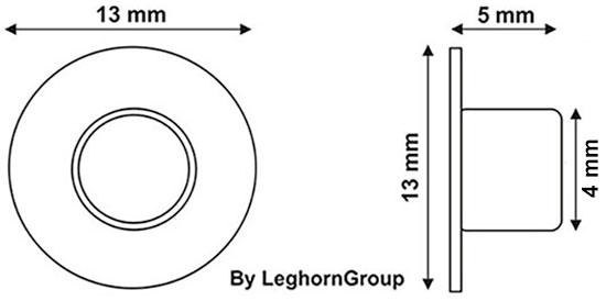 remaches metalicos para marcar jamones diseno tecnico
