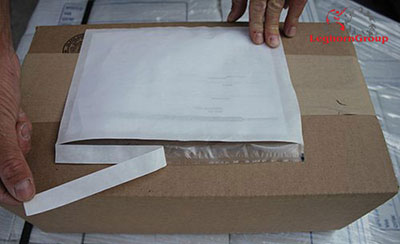 sobre adhesivo packing list como usarlo