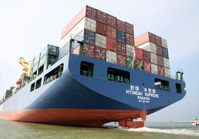 Transporte con container, transporte marítimo
