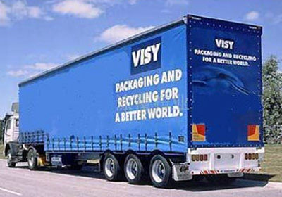 Transporte internacional con camiones con lona