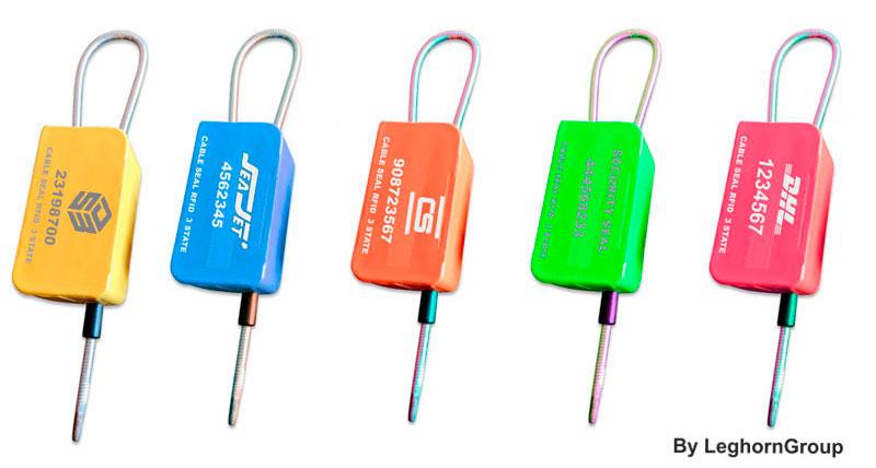 precinto cable rfid 3 estados myrmidon seal colores personalizaciones