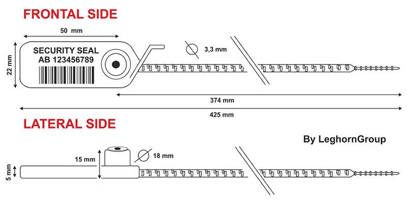 precinto plastico ajustable adjuste seal rfid diseno tecnico