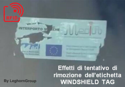 etiqueta windshield tag rfid uhf