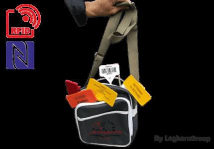 maletín kefalonia con kit completo de precintos rfid