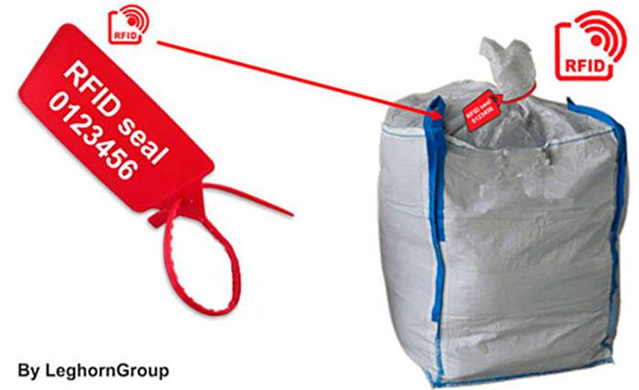 precinto rfid gestion big bag lodo ejemplo