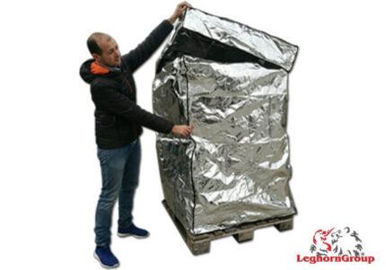 bolsa de protección térmica en aluminio para paletas