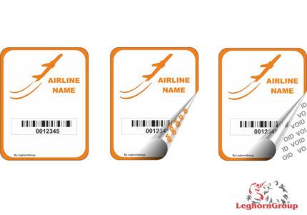 etiqueta de seguridad para compañias aéreas y aeropuertos
