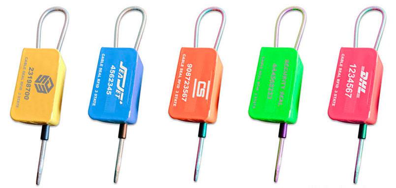 Precinto Cable Rfid Uhf 3 Estados Myrmidon Seal Colores